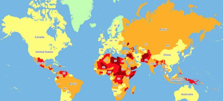 Travelrisk Map 2018- In diese Länder solltest du vielleicht lieber nicht reisen…?