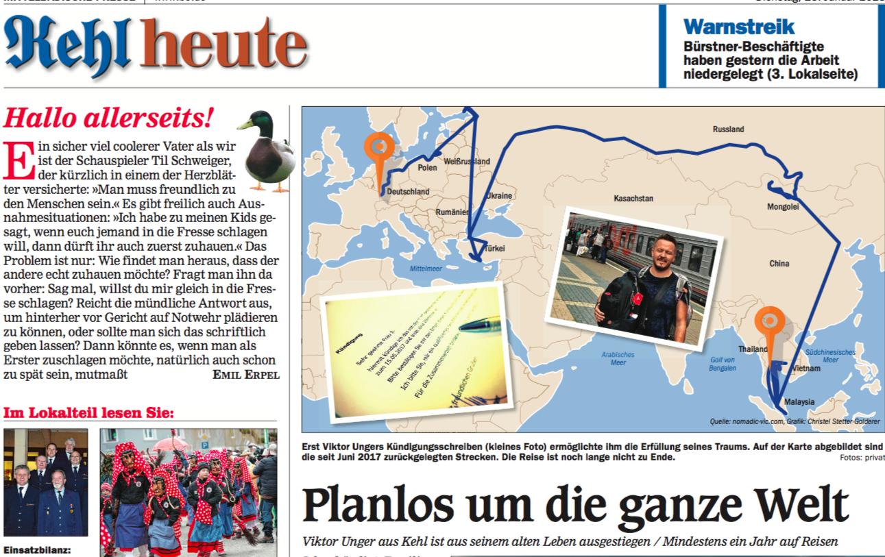 Nomadic Vic Planlos um die Welt