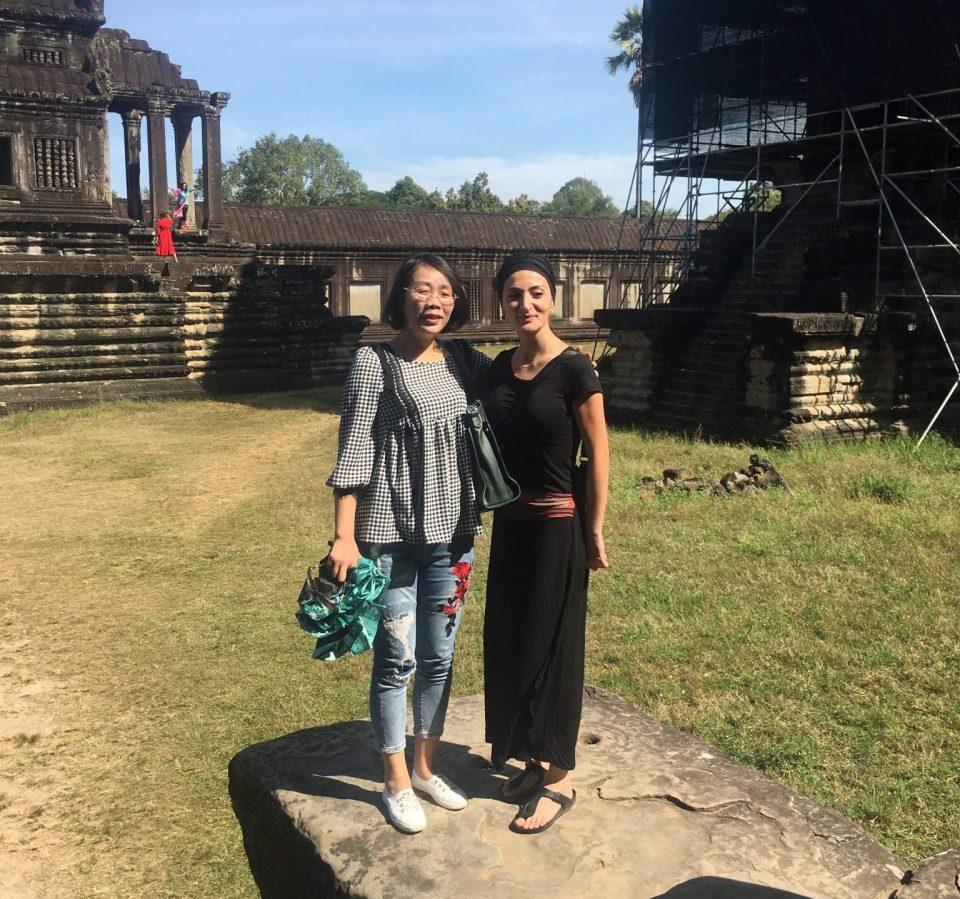 Japanische Touristin in Siem Reap