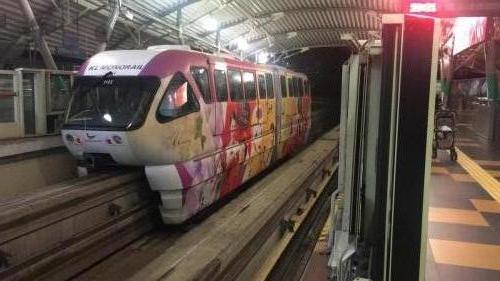 sehr futuristisch, die Monorail Kuala Lumpur
